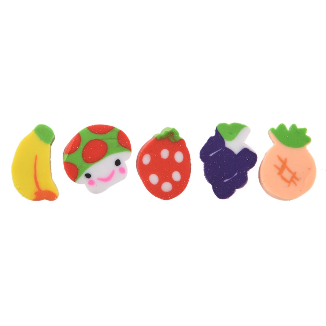 Erasers - SODIAL (R) 50 x Mini Fruit Shapes Colorful Erasers SODIAL(R)