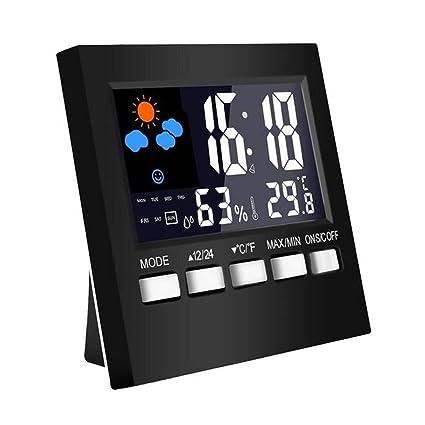 Klicop Reloj multifunción con Alarma Digital Meteorológico ...