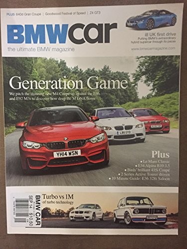 BMW CAR MAGAZINE SEPTEMBER 2014 *GENERATION GAME/i8 UK FIRST DRIVE*