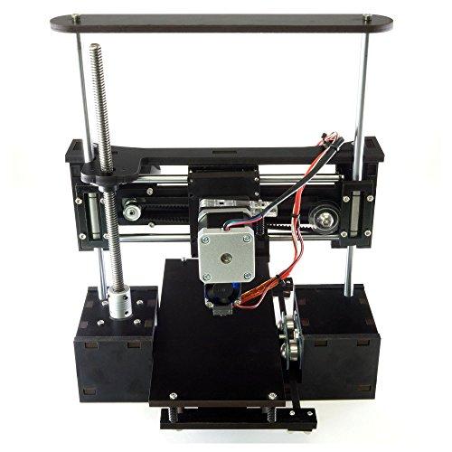 "OneUp 3D Printer Kit 4"" x 4"" x 5"" Build Dimensions 50 Micron 1.75mm PLA Filament"