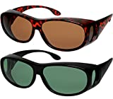 Fit Over Sunglasses Polarized Lens Wear Over Prescription Eyeglasses 100% UV Protection Fitovers for Men and Women