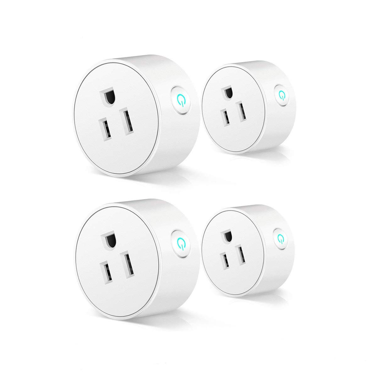 4 Pack Alexa Smart Plug Compatible with Alexa Echo Dot, Smart APP Control from Anywhere Anytime, Smart Home Automation, No Need to Get up and Turn off Light Any More (please set up with 2.4G WiFi)
