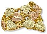 Landstroms Ladies 10k Black Hills Gold Ring with Leaf and Grape Clusters - D2020
