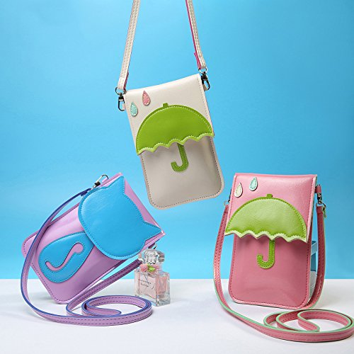 Mobile Bag Make Ladies Phone Crossbody Cartoon Girls up Coin Pink Pocket Daliuing Durable Mini Stitching Shoulder Pattern for Pouch xT8Pp70wq