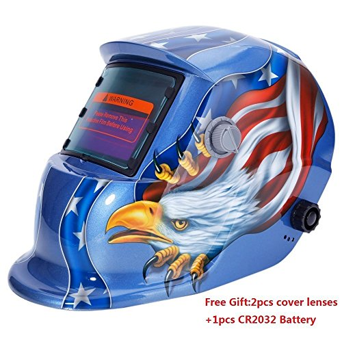 Welding Helmet Mask (Blue) - 9