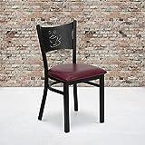 Flash Furniture 4 Pk. HERCULES Series Black