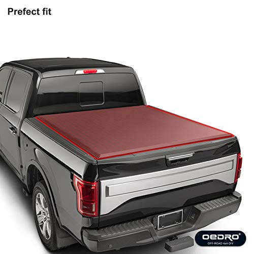 Outlet Oedro Tri Fold Truck Bed Tonneau Cover Compatible With 2014
