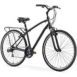 "sixthreezero Body Ease Men's 21-Speed Comfort Road Bicycle, Matte Black, 26"" Wheels/ 18"" Frame"