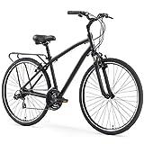 sixthreezero Body Ease Men's 21-Speed Comfort Bike, Matte Black