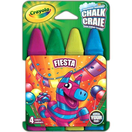 Crayola Build Your Box Fiesta Chalk (4 Count) (Sidewalk Paint Crayola compare prices)