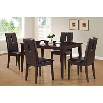 Lovely Monarch Specialties Veneer Dining Table, 38 Inch By 54 Inch By 72