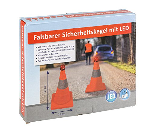 (III 10049516Collapsible Safety Cone with LED Lighting Approx. 45cm)