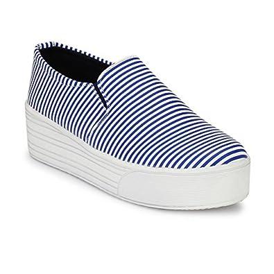 3247e139cb Neso Women Fashion Sneakers Casual Slip On White Black Flat Shoes ...