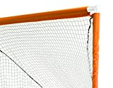 Park & Sun Sports Indoor/Outdoor Nylon Bungee Slip Net Velcro Sleeves: Lacrosse Goal, White, 6' W x 6' H x 7' D