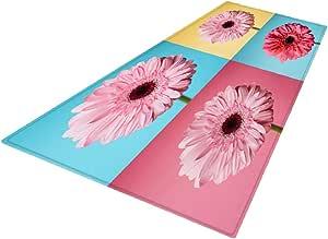 Flameer Area Rug Gripper Pad, Floor Rugs Runners, Durable Carpets Mat Floor Blanket Protector for Hard Floors - 10 Style for Choose - Pink, 180x60cm