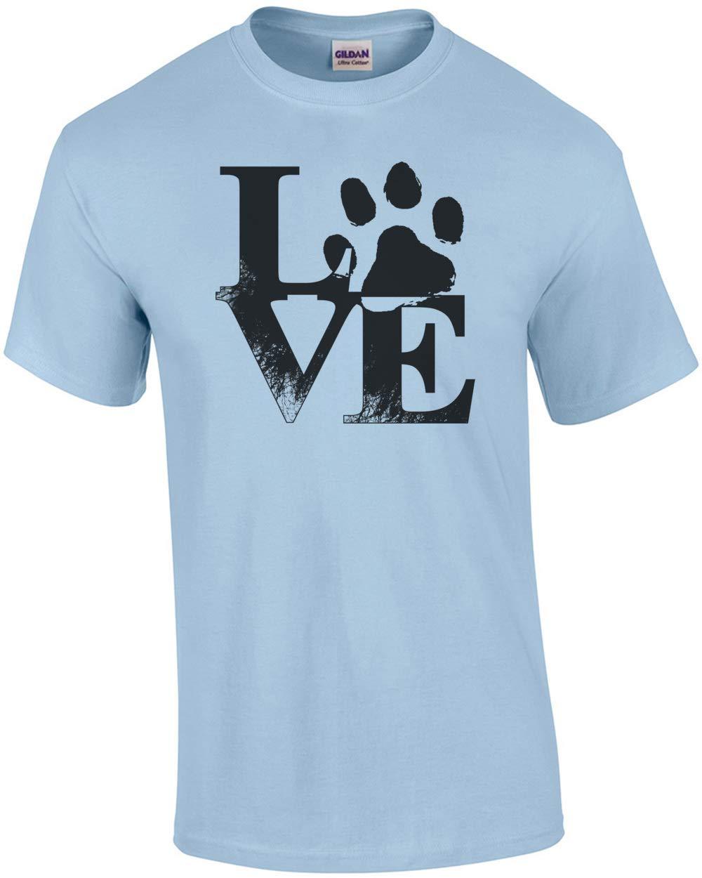 Love Dog Paw T Shirt 5367