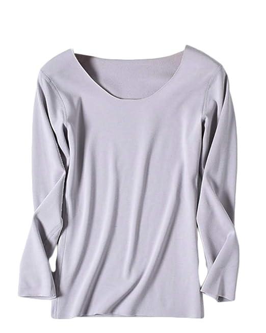Camiseta Interior Térmica Ligera De Manga Larga para Mujer Ropa Interior Térmica: Amazon.es: Ropa y accesorios