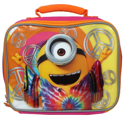 Despicable Me Minions Movie 9.5 inch Love Peace and Happiness Lunch Box by Accessory -
