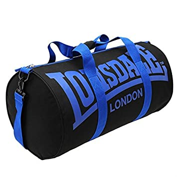 Lonsdale Barrel Bag Black   Blue  Amazon.co.uk  Luggage 72cf0f414ed31