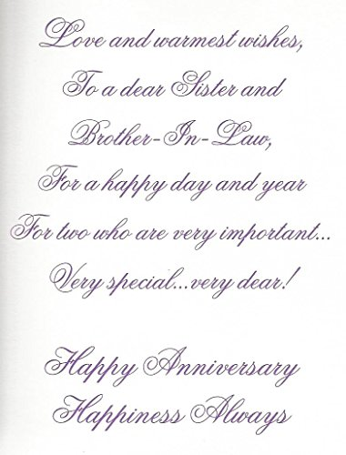 Amazoncom Anniversary Wishes To A Dear Sister And Her Husband Z8