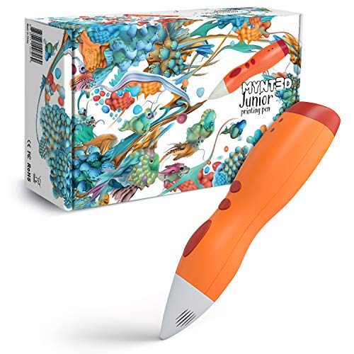 MYNT3D Junior 3D Pen for Kids, Uses Low Temperature 1.75mm PCL Plastic