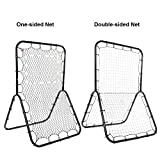 Baseball Rebounder Pitch-back Net for Sports Training with Adjustable Target & Double 20 square feet Multi-Sport Net