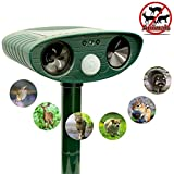 ZOVENCHI Ultrasonic Animal Repeller, Solar Powered Repeller with...