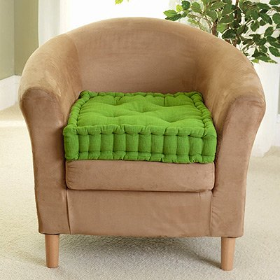 ROHI Supportive Armchair Booster Cushion with Luxury Soft to Touch 100/% Cotton Cover Black