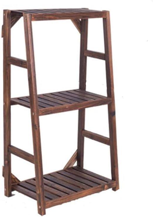 Estante de flores para escalera, madera, soporte para maceta, diseño elegante, estante de piso para interior, exterior, jardín, patio, bonsái, decorativo, estante de almacenamiento para plantas: Amazon.es: Jardín