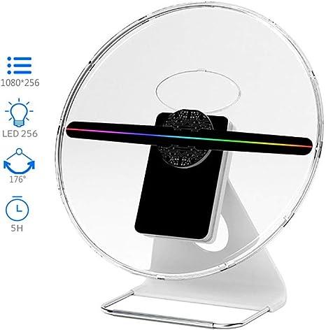 BESTSUGER Ventilador de Publicidad con Holograma 3D, Ventilador de ...