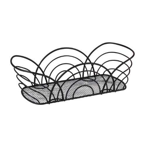 Spectrum Diversified Twist Flower Bread Basket, Black ()