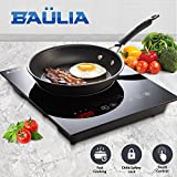 Baulia SB816 Induction Cooker Single Touch – 1800-Watt Countertop Burner for Fast Cooking, Precise Digital Temperature Control + 4 Hour Timer, Black