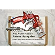 Binks AA1600M HVLP Air Assist Airless Paint spray Gun Kit + Accessories