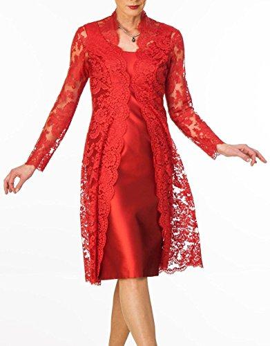 Satin T¨¹rkis Kleid der Kurz Mantel HWAN Spitze mit Jacke Braut Damen Mutter Bolero RZFcS