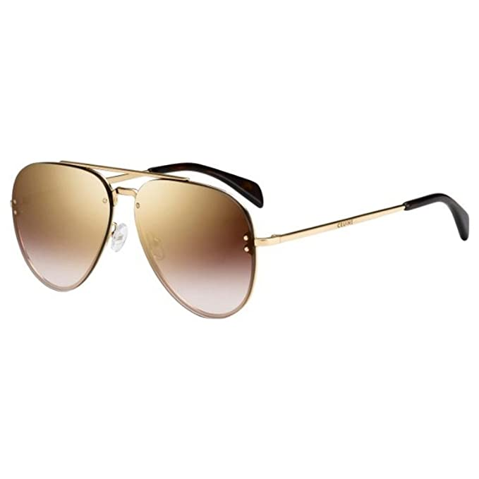b9e3ef3590 Celine Small Mirror CL 41392 J5G QH Gold Metal Aviator Sunglasses   Amazon.ca  Clothing   Accessories