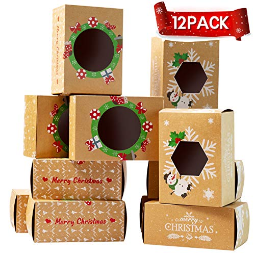 Christmas Cookie Treat Candy Boxes,8