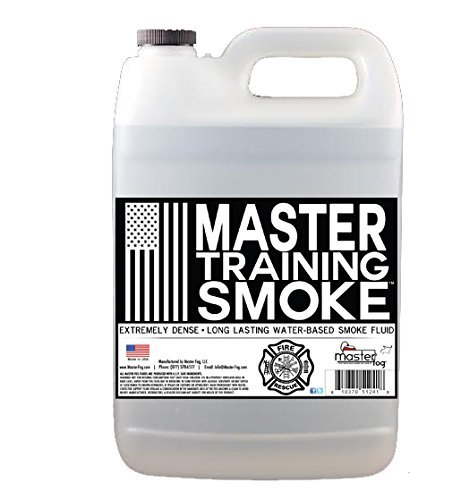 Master Training Smoke - Extremely Dense - Long Lasting - Water-Based Smoke Fluid - 1 Gallon