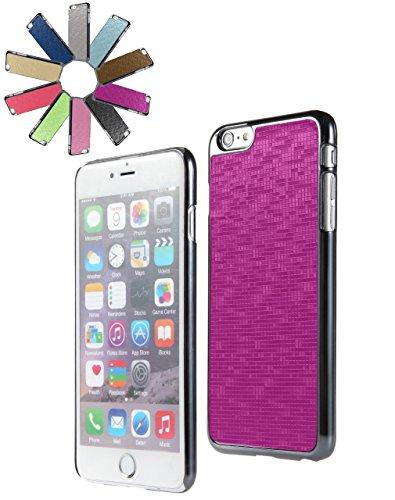 Bralexx 6233Metallic-6225Lila-Karo Smartphone Case passend für Apple iPhone 6 Plus 13,9 cm (5,5 Zoll) metallic lila