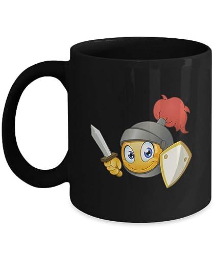 Amazon.com: Emoji Smiley Coffee Mug - Knight Ninja: Kitchen ...