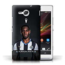 Official Newcastle United FC Phone Case / Cover for Sony Xperia SP/C5303 / Anita Design / NUFC Football Player 15/16 Collection