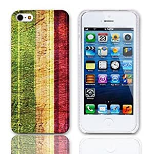 HP DFVintage Stripes Pattern Hard Case with 3-Pack Screen Protectors for iPhone 5/5S
