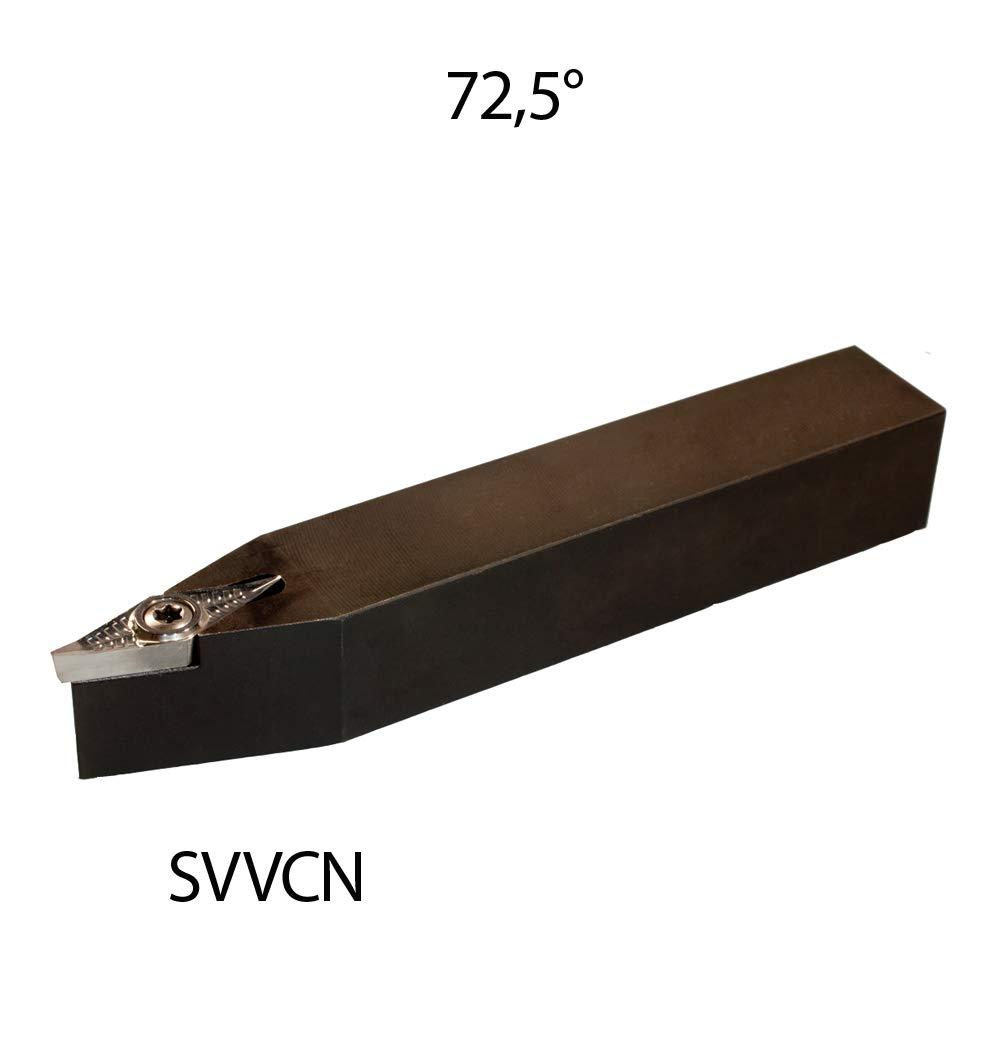 1 St/ück ISO Klemmhalter 20x20 SVVCN 2020 K16-BS Drehstahl 72,5 Grad Rechts f/ür Wendeplatten VCGT//VCMT 1604.