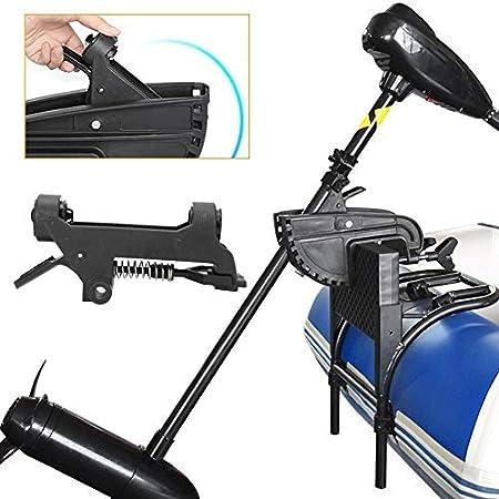 Victool Transom Mount Trolling Motor fueraborda Accesorio Deportes acuáticos Barco Kayak 12V Eléctrico, Negro,