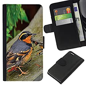 A-type (Spring Nature Bird Trees Summer Orange) Colorida Impresión Funda Cuero Monedero Caja Bolsa Cubierta Caja Piel Card Slots Para Apple Iphone 5C