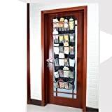 24 Large Mesh Pockets - OVER THE DOOR SHOE RACK and Closet Organizer System ...