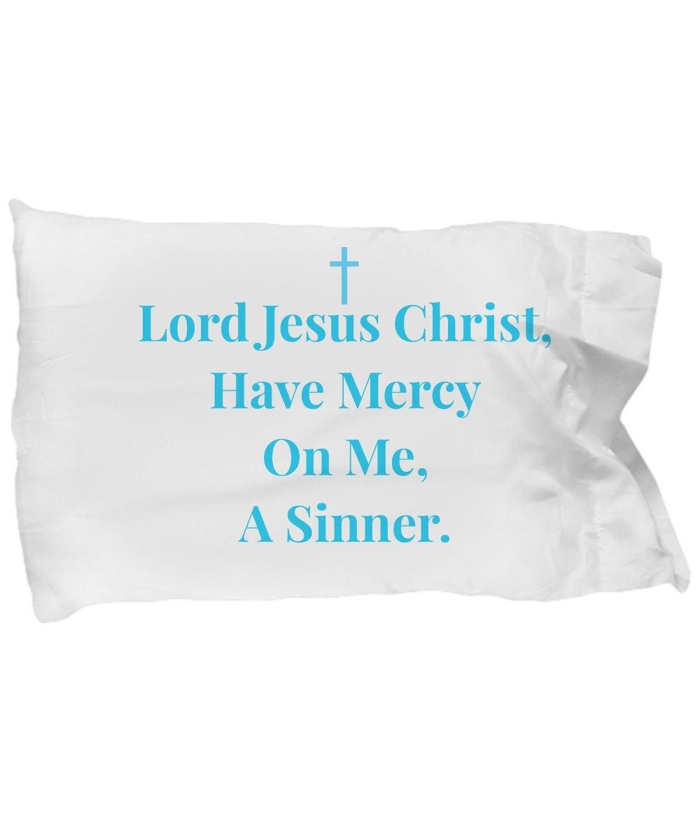 Schur-Link Brands Gift for Christian! Jesus Prayer! Lord Jesus Christ, Have Mercy On Me, A Sinner. Pillowcase