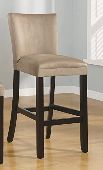 Pleasing Bullhead City 29 Microfiber Barstool In Taupe Set Of 2 Unemploymentrelief Wooden Chair Designs For Living Room Unemploymentrelieforg