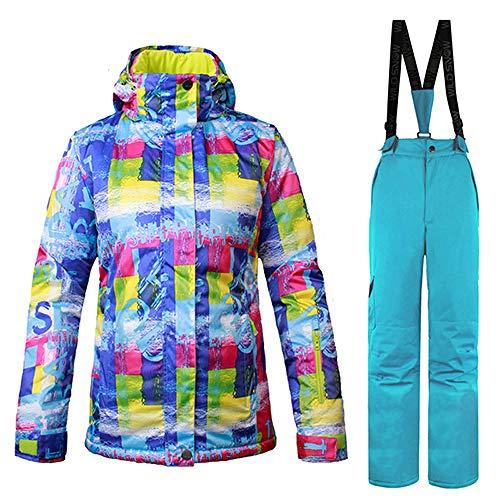Coupe Hiver Snowboard De Imperméable Plein H2 Jiakenvde Ski Femmes Air Color vent VestesPantalons Sport Snow Vêtements Jacket Combinaison En Chaud Veste FcTKJ1l