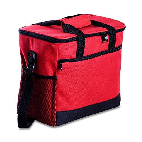 Kühltasche, Cozyswan Picknicktasche Thermal Mittagessen Tasche / Kühlbox 16 L Unisex Outdoor Rot