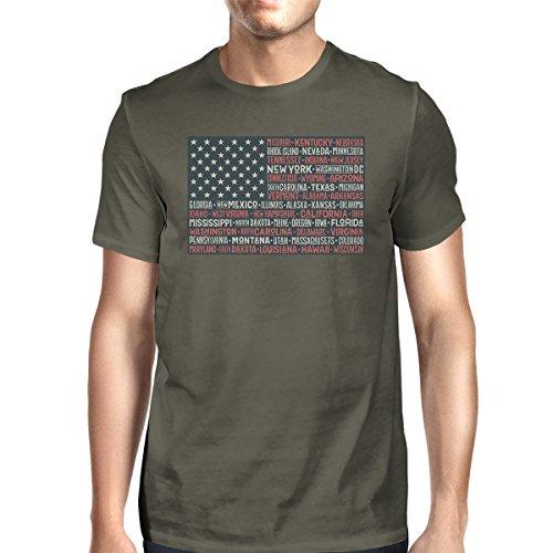 Size 365 States de hombre para manga Printing Flag Us corta 50 One Camiseta 88wqfSaU